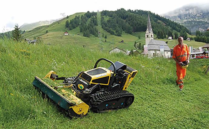 Maquinaria innovadora para mantenimiento forestal y de jardines extensivos urbanos
