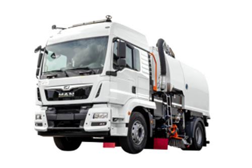 Máquina barredora sobre camión S8400
