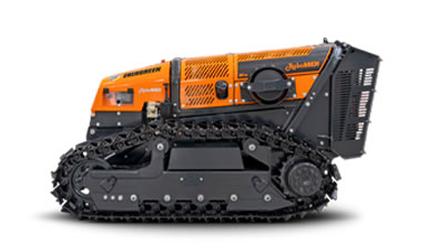 Robot portaherramientas controlado por radio ROBOMIDI para trabajos forestales