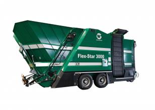 Maquinaria para compostaje y máquinas trituradoras, cribadoras y volteadoras WILLIBALD FLEX STAR 3000