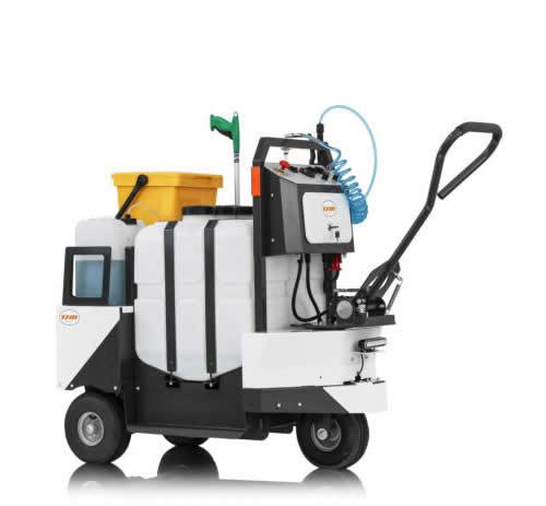 Cubo de barrendero y desinfectante 100 % eléctrico CUBO SANYSPRAY 120