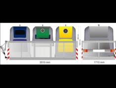 Isla de contenedores emergentes abierta URBACLIC SN10IC8