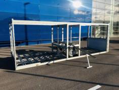 Semiremolque para transportar y posicionar bicis comodamente PORTABICIS de aluminio