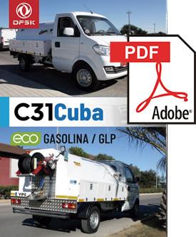 Vehículos para trabajos de mantenimiento carrozados C31Cuba