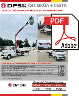 Vehículos para trabajos de mantenimiento carrozados DSFK C31 GRÚA + CESTA