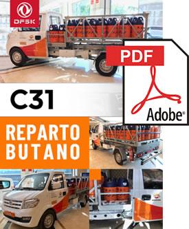 Vehículos para trabajos de mantenimiento carrozados C31 Reparto de Butano