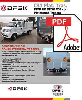 Vehículos para trabajos de mantenimiento carrozados C31 Plataforma trasera - Pickup