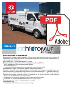 Vehículos para trabajos de mantenimiento carrozados C31 Hidromur