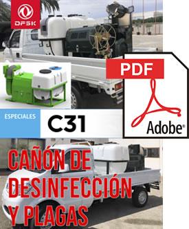 Vehículos para trabajos de mantenimiento carrozados C31 Cañón de desinfección de plagas