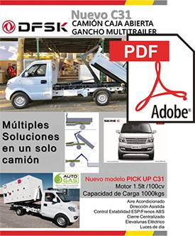 Vehículos para trabajos de mantenimiento carrozados C31 Camión caja abierta, gancho multitrailer