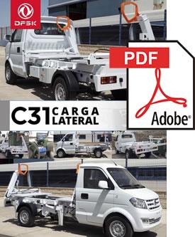 Vehículos para trabajos de mantenimiento carrozados C31 Carga Lateral