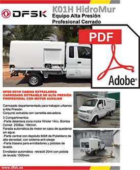 Vehículos para trabajos de mantenimiento carrozados Serie K01H Hidro Mur
