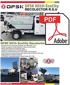 Vehículos para trabajos de mantenimiento carrozados Serie K01H Eco City Recolector