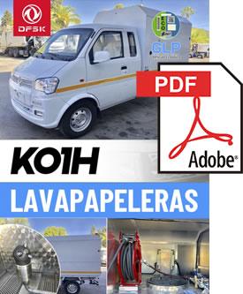 Vehículos para trabajos de mantenimiento carrozados Serie K01H Lavapapeleras