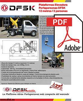 Vehículos para trabajos de mantenimiento carrozados Serie K01H Plataformas elevadoras DSFK