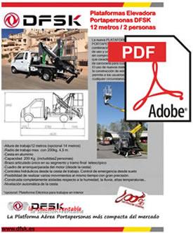 Vehículos para trabajos de mantenimiento carrozados Serie K01H Plataformas elevadoras 12 metros DSFK