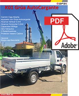 Vehículos para trabajos de mantenimiento carrozados Serie K01H Grúa autocargante