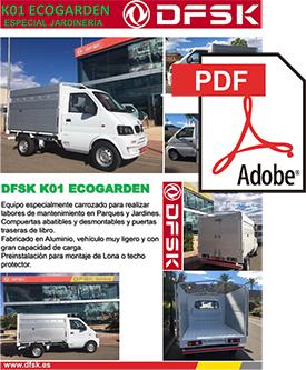 Vehículos para trabajos de mantenimiento carrozados Serie K01H Eco Garden