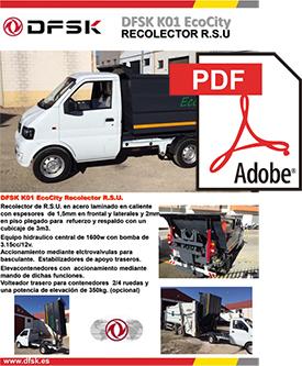 Vehículos para trabajos de mantenimiento carrozados Serie K01 Eco City Recolector